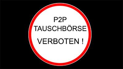 p2p belehrung desktop HIntergrundbild - Tauschbörse verboten
